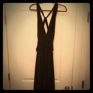 BCBG floor length evening gown